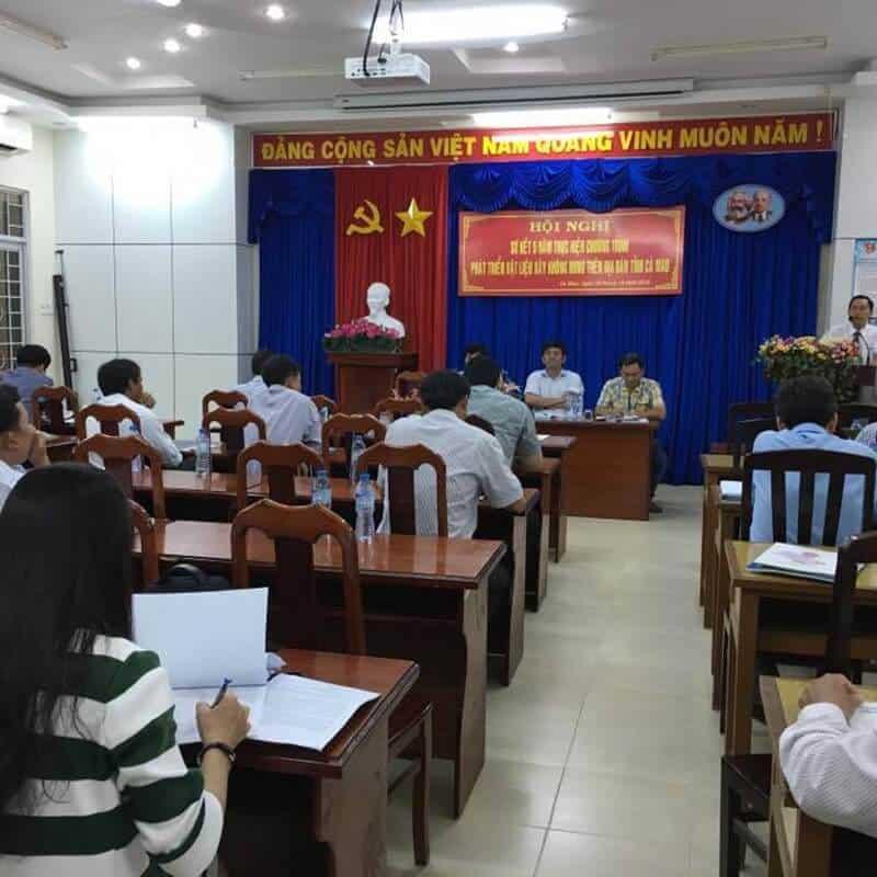 Hội nghị phát triển vl xây không nung tỉnh Cà Mau