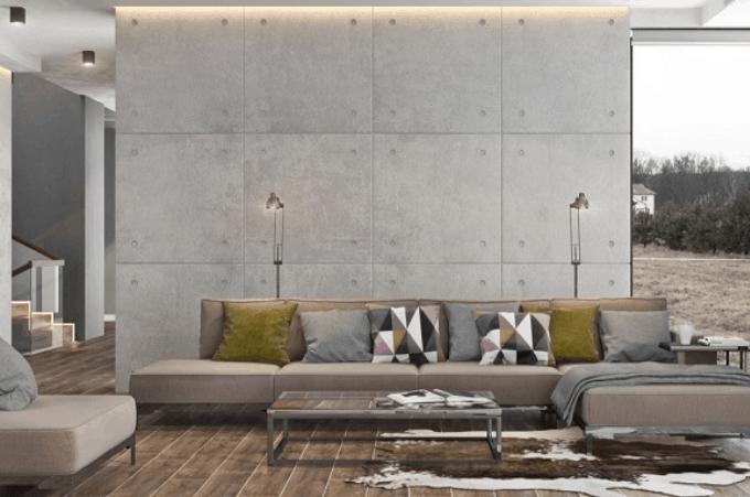 Vách ngăn bằng tấm tường bê tông Polystyrene