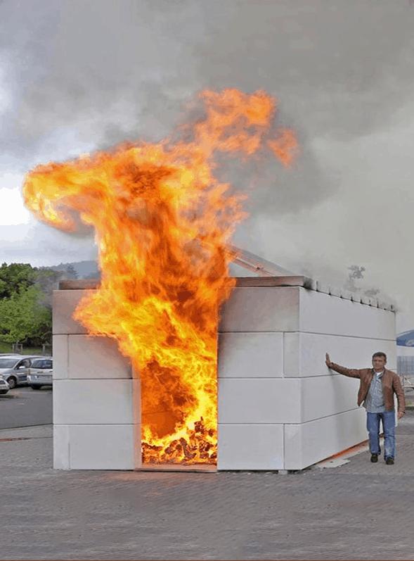 Thử nghiệm chống cháy của Tấm tường ALC tại Đức